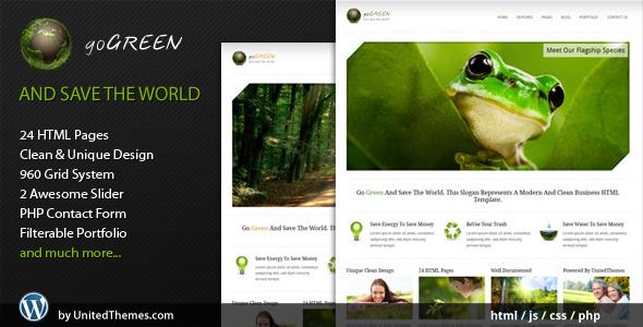 ThemeForest Go Green Modern Business HTML Template 476396