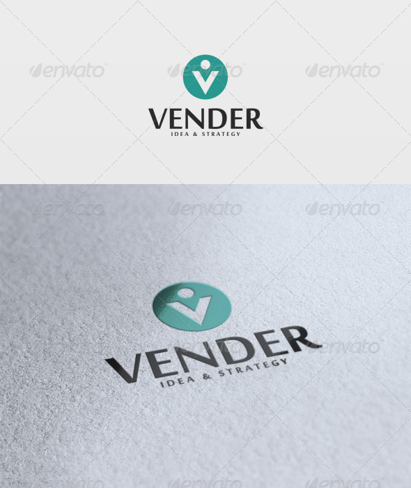 vender logo graphicriver logo templates letters 2776221