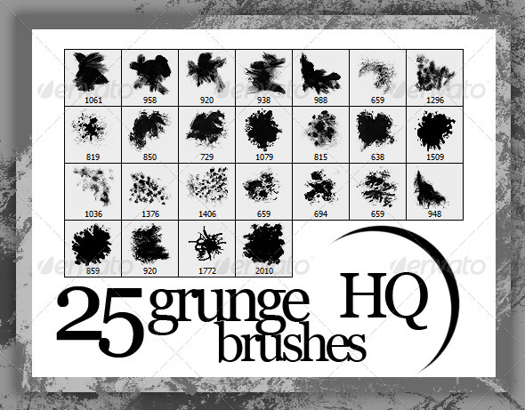 25 Grunge Brushes HQ - Grunge Brushes