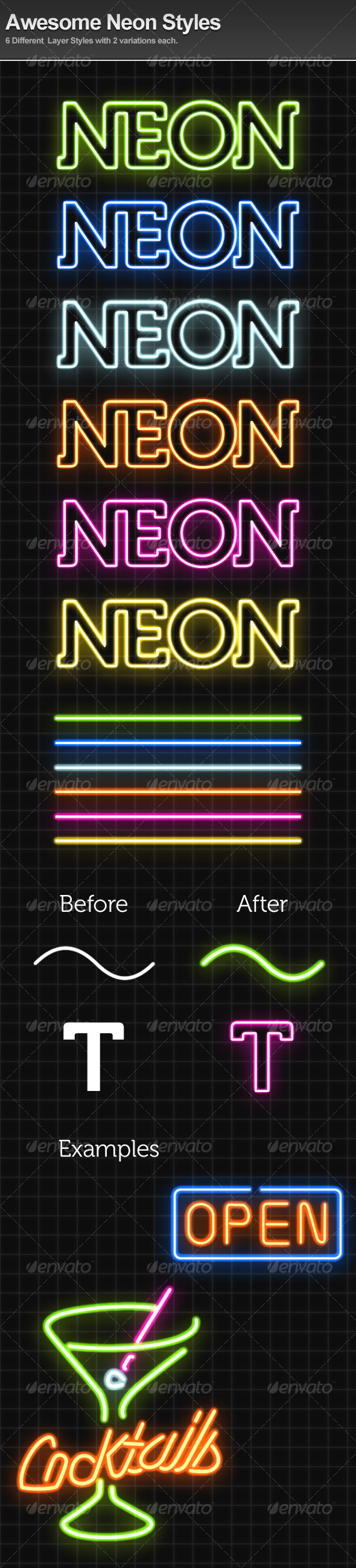 Awesome Neon Styles - Text Effects Styles