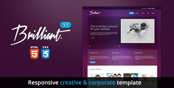Brilliant - Premium Responsive HTML5 Template - Business Corporate