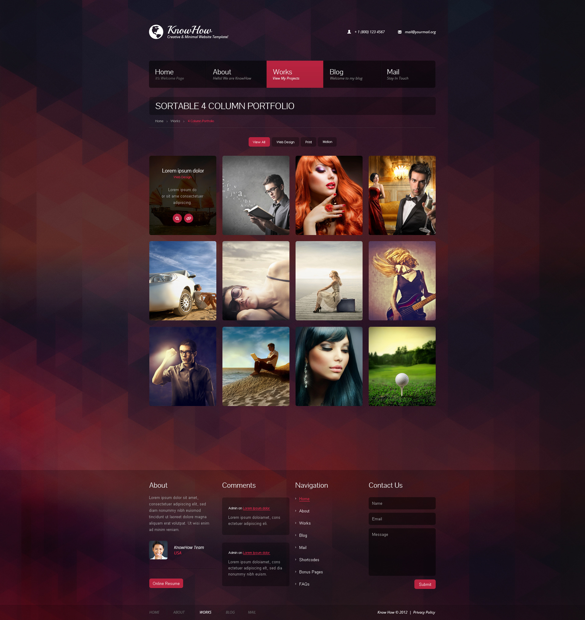 KnowHow Multifunctional PSD Template