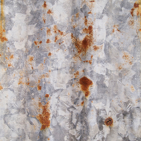 Rust on the galvanized steel - Stock Photo - Images
