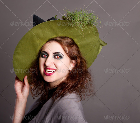 Sexy Witch Vampire - Stock Photo - Images