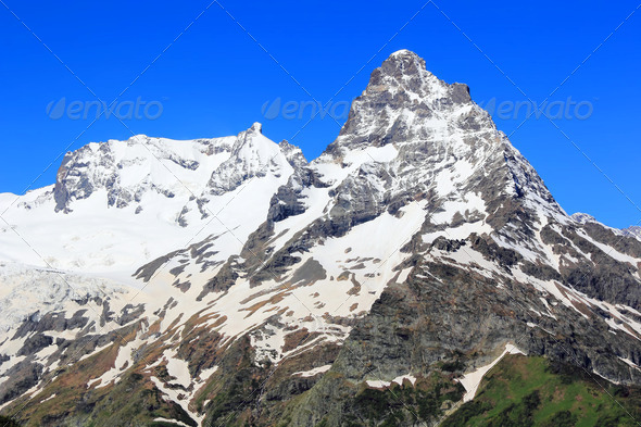 Caucasus mountains Dombai - Stock Photo - Images