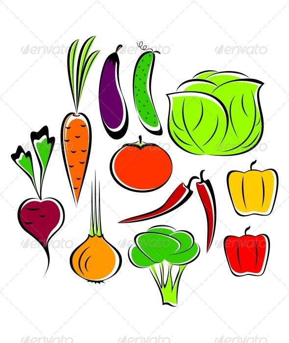 Different vegetables. - Food Objects