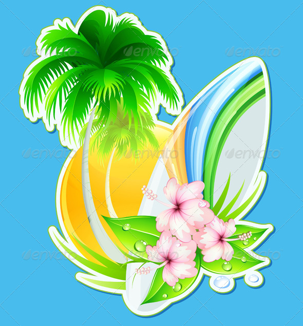 Summer insignia - Seasons/Holidays Conceptual