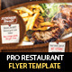 Restaurant Steak House Flyer PSD Template - GraphicRiver Item for Sale
