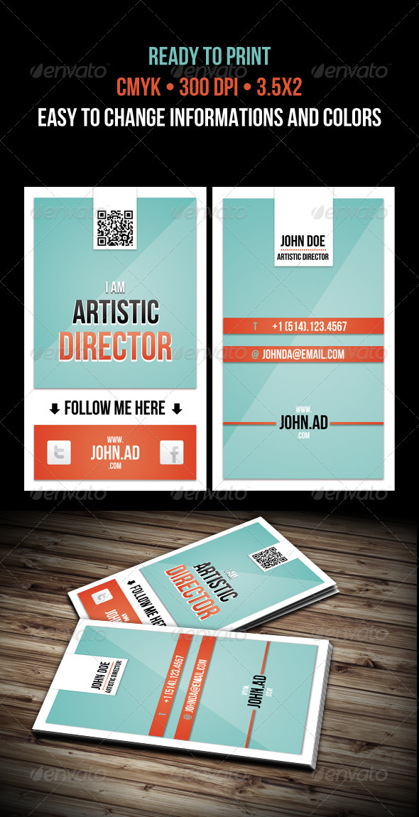 John Artistic Director - Creative Business Cards
