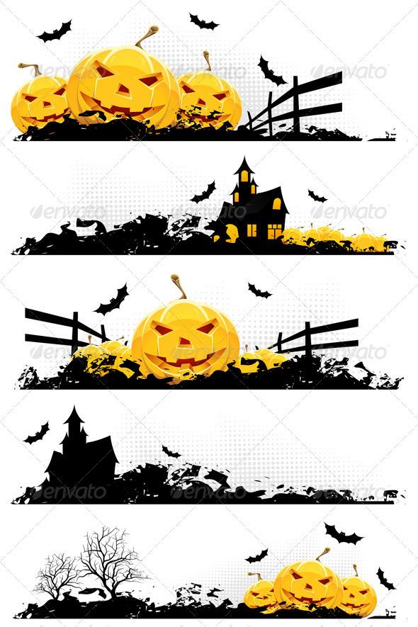 Grunge Halloween Banner - Halloween Seasons/Holidays