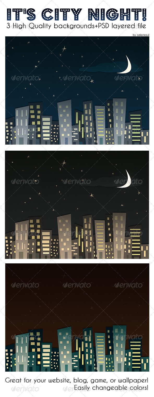 City Night Backgrounds - Backgrounds Graphics