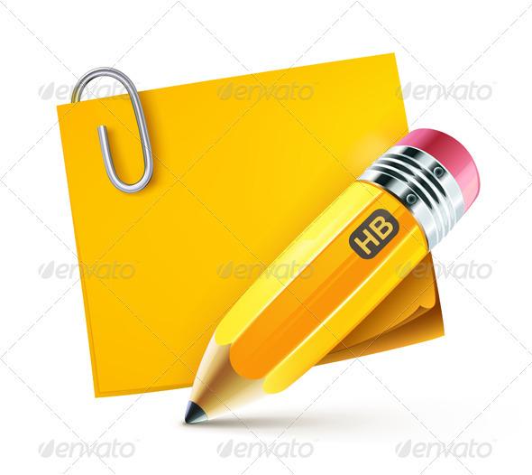 GraphicRiver Yellow pencil 2780813