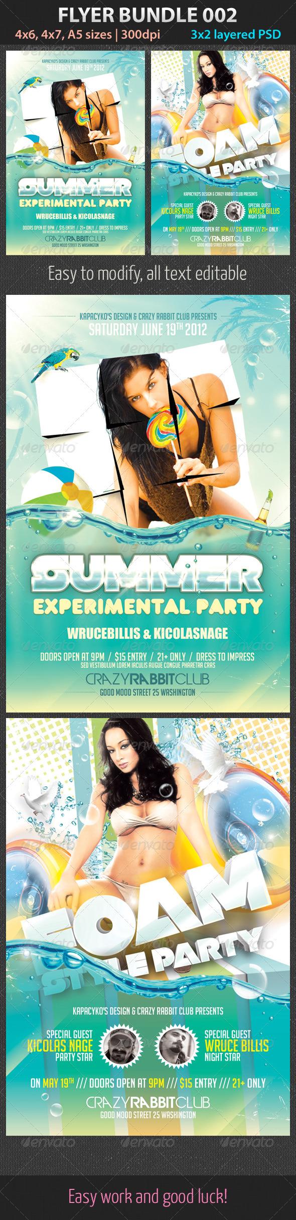 Flyer Bundle 002 - Clubs & Parties Events