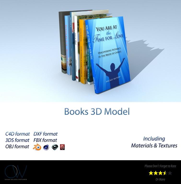 Books 3D Model - 3DOcean Item for Sale