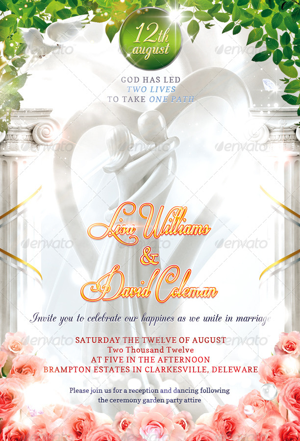 wedding invitation psd template by masterflyer