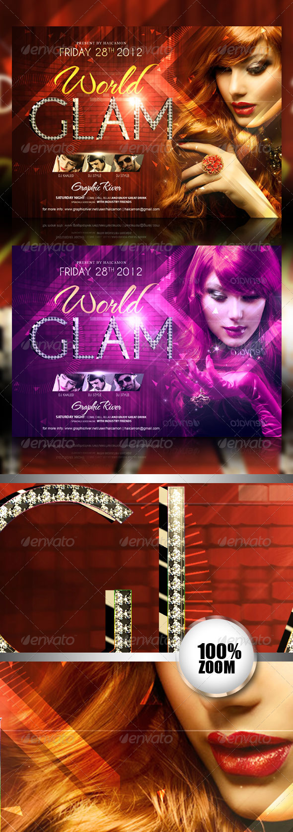GraphicRiver Glam World Party Flyer 2781557