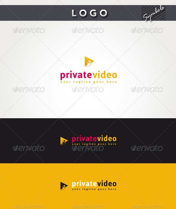 Private Video Logo - Symbols Logo Templates