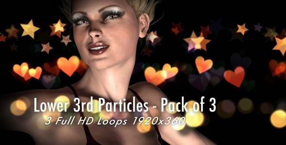 Lower 3rd Particles Pack Of 3 Loops