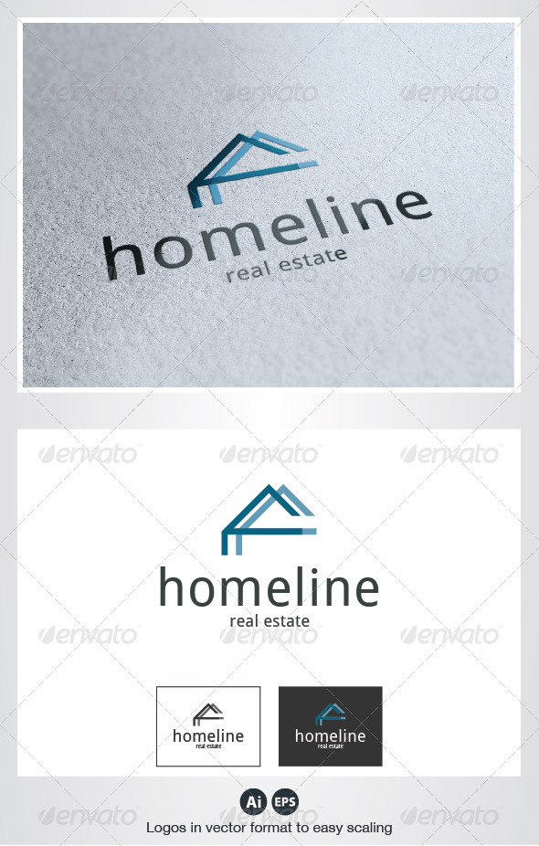 Home Line Logo - Buildings Logo Templates