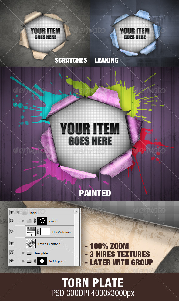 Torn Plate - Miscellaneous Backgrounds