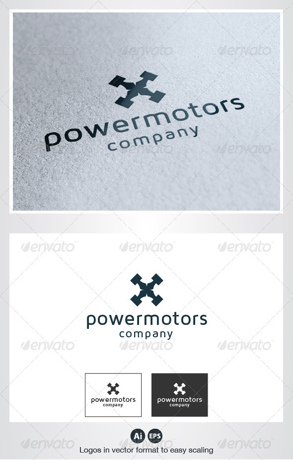 GraphicRiver Power Motors Logo 2782231
