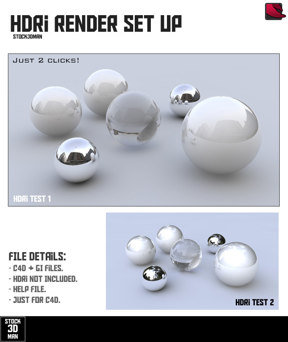 HDRi Render Set Up - For C4D - 3DOcean Item for Sale