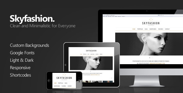 Skyfashion - Minimalist WordPress Theme - ThemeForest Item for Sale