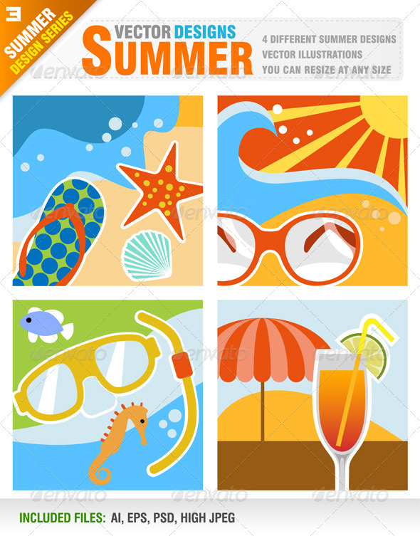 4 Summer Design - Travel Conceptual