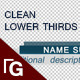 Clean Lower Thirds Pack - VideoHive Item for Sale