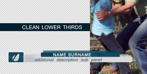 VideoHive Clean Lower Thirds Pack 2783687