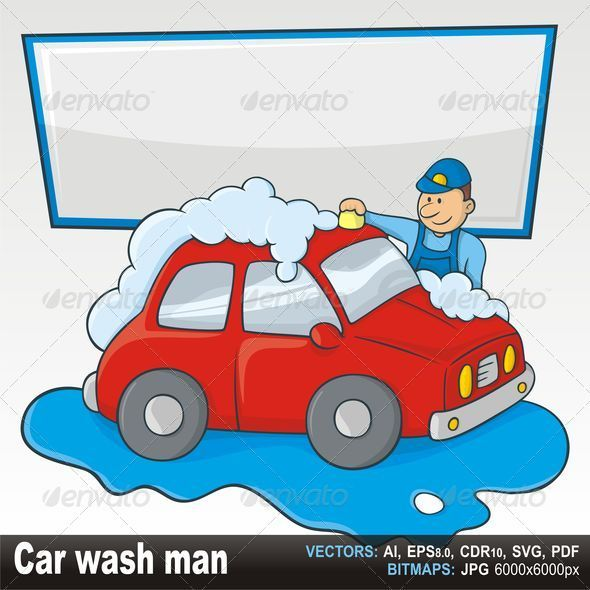 Carwash Man - Characters Vectors