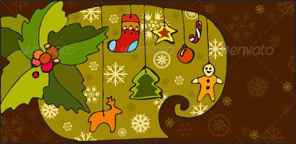 Christmas Toy Background - Backgrounds Decorative