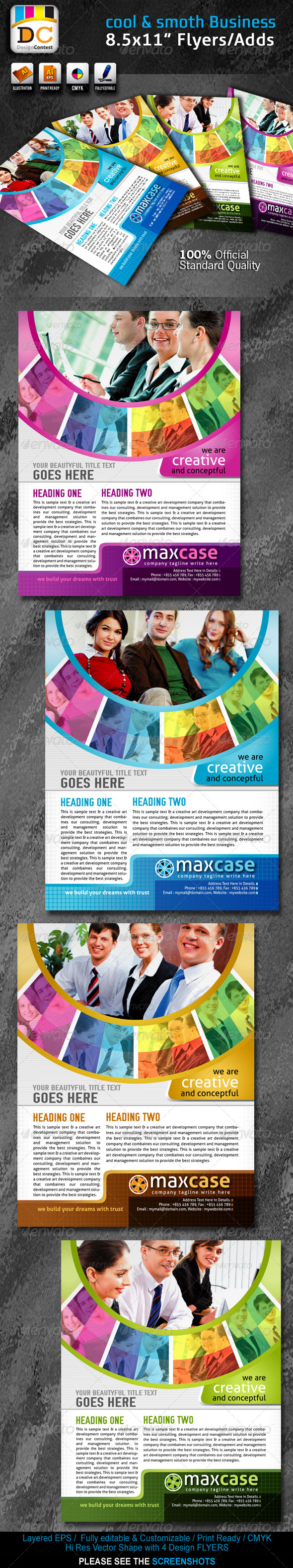Cool & Smooth Corporate Business Flyers Adds