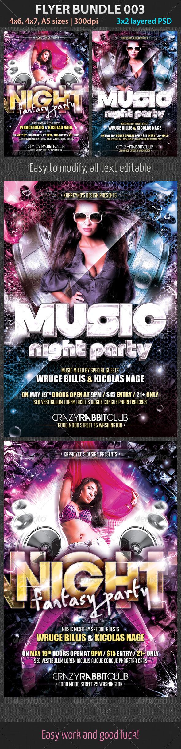Flyer Bundle 003 - Clubs & Parties Events