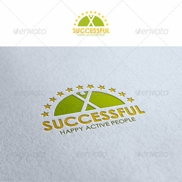 Happy Active People - Humans Logo Templates