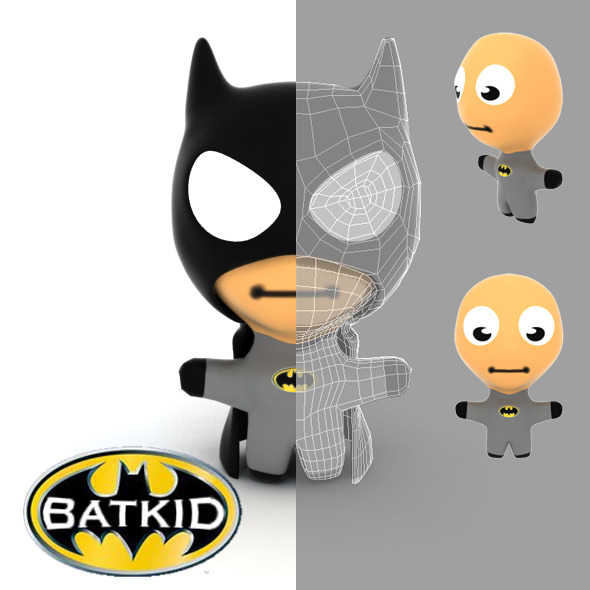 Batkid Cartoon - 3DOcean Item for Sale