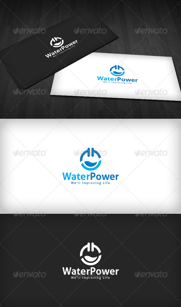 Water Power Logo - Vector Abstract