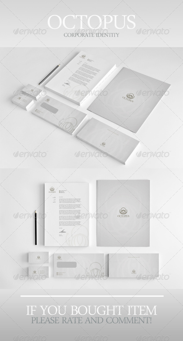 Octopus Corporate Identity - Stationery Print Templates