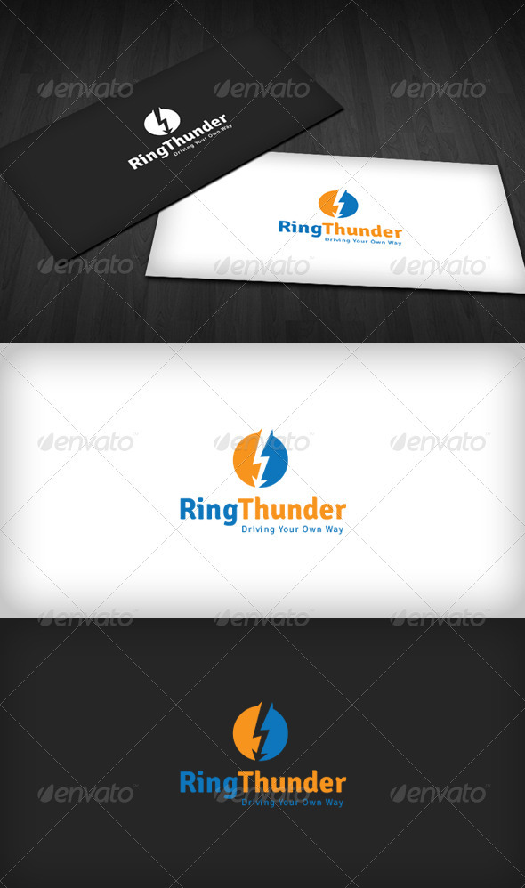 Ring Thunder Logo - Vector Abstract