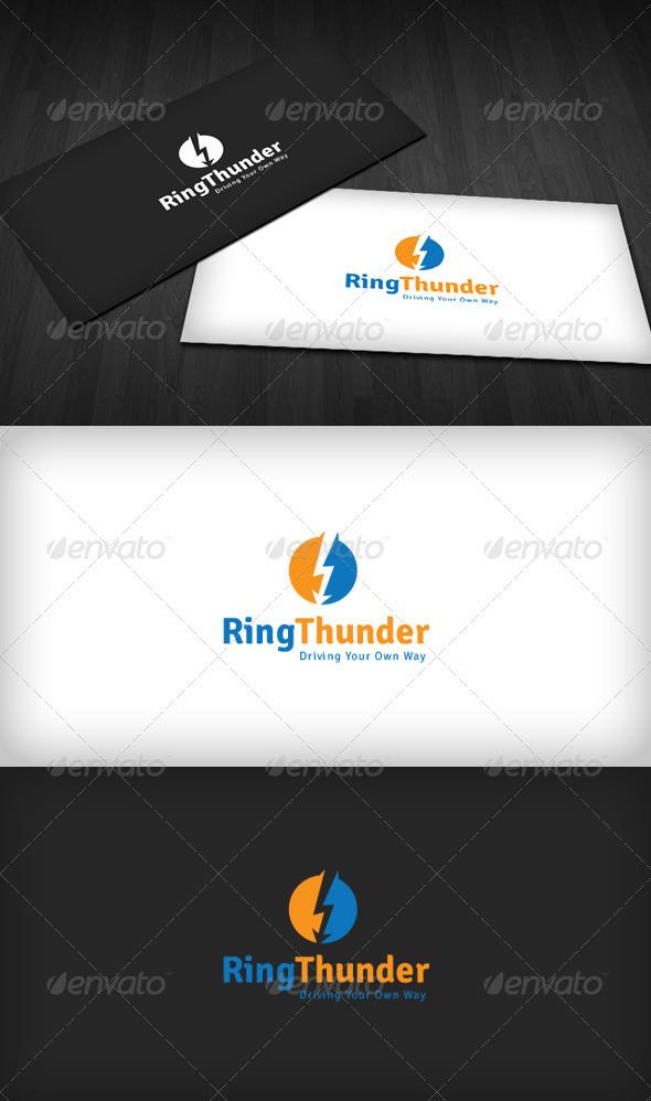 Ring Thunder Logo - Vector Abstract