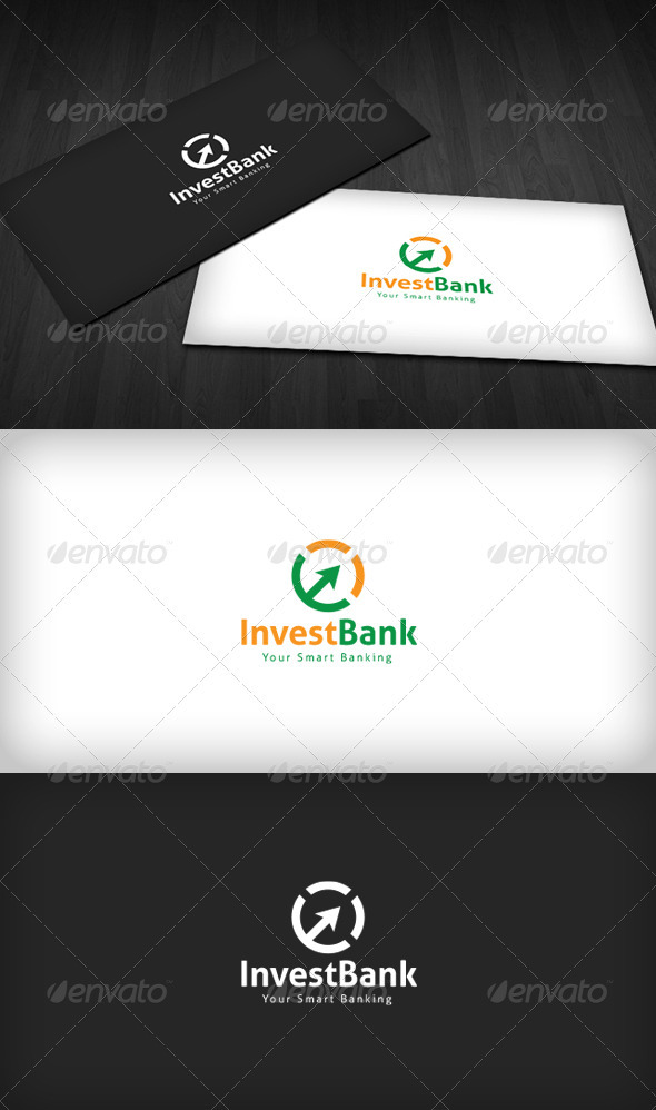 Invest Bank Logo - Vector Abstract