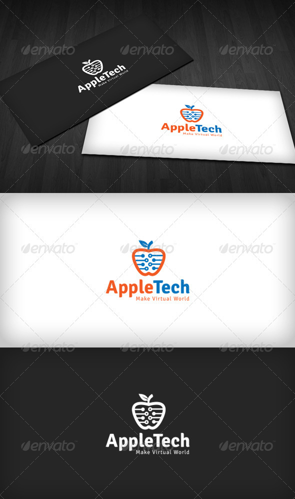 Apple Tech Logo - Nature Logo Templates
