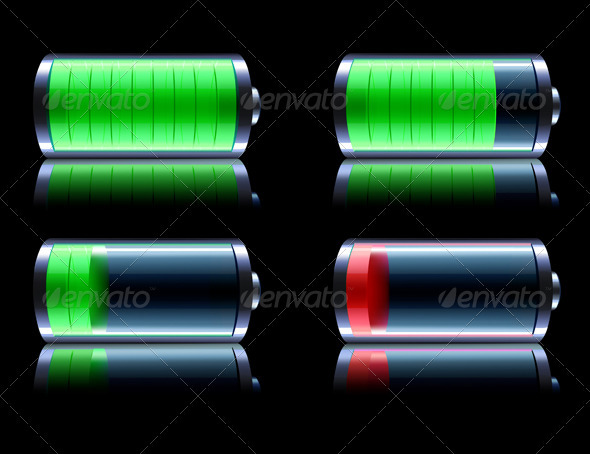 Battery level indicator  - Objects Vectors