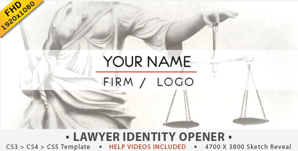 VideoHive Justice Lawyer Identity Opener 2767000