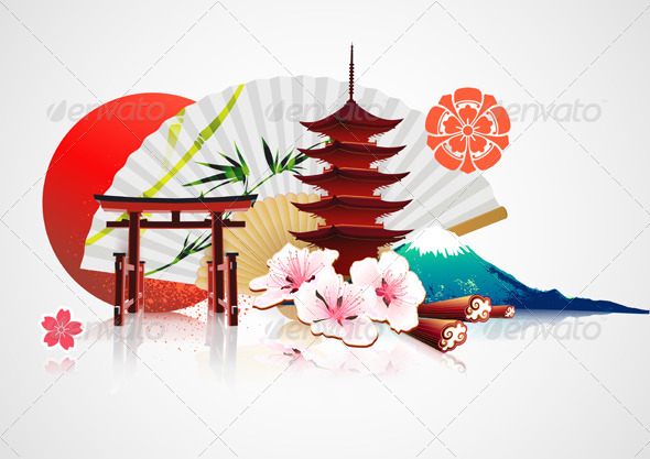 GraphicRiver Japanese background 2785747
