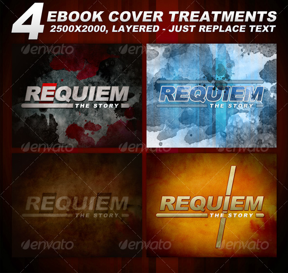 4 layered eBook cover treatments