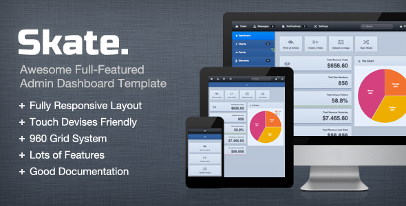 ThemeForest Skate Dashboard Admin Control Template 2590498