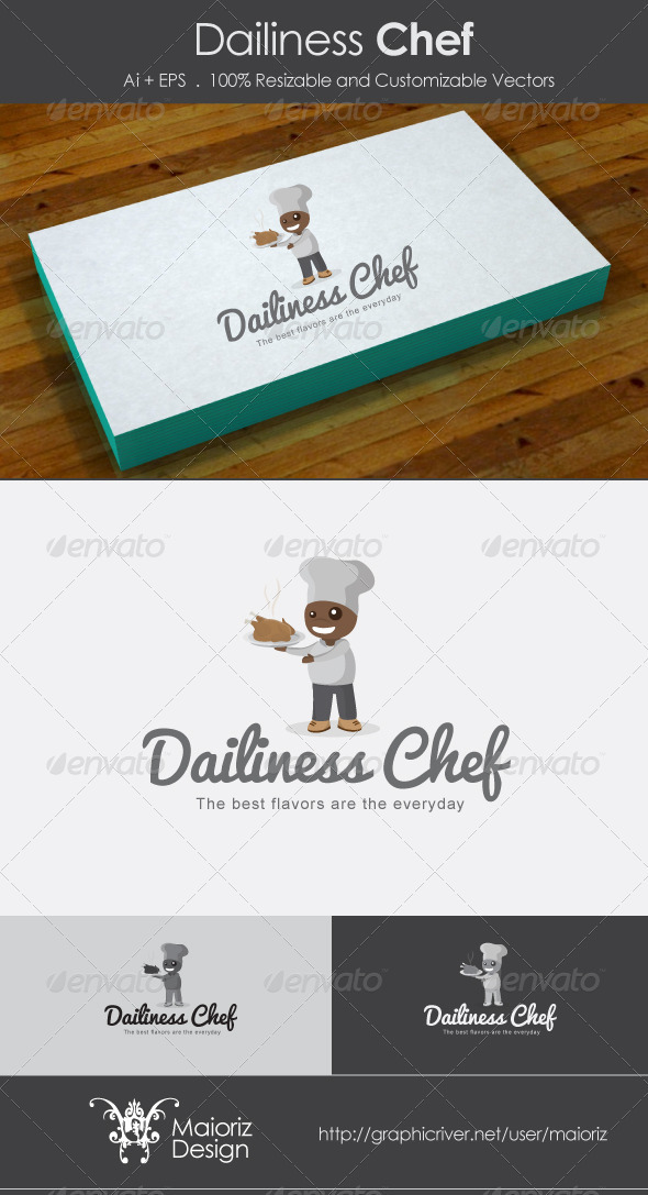 Dailiness chef - Humans Logo Templates