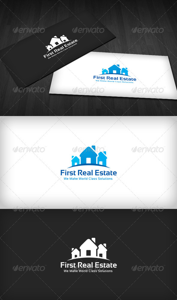 First Real Estate Logo - Buildings Logo Templates