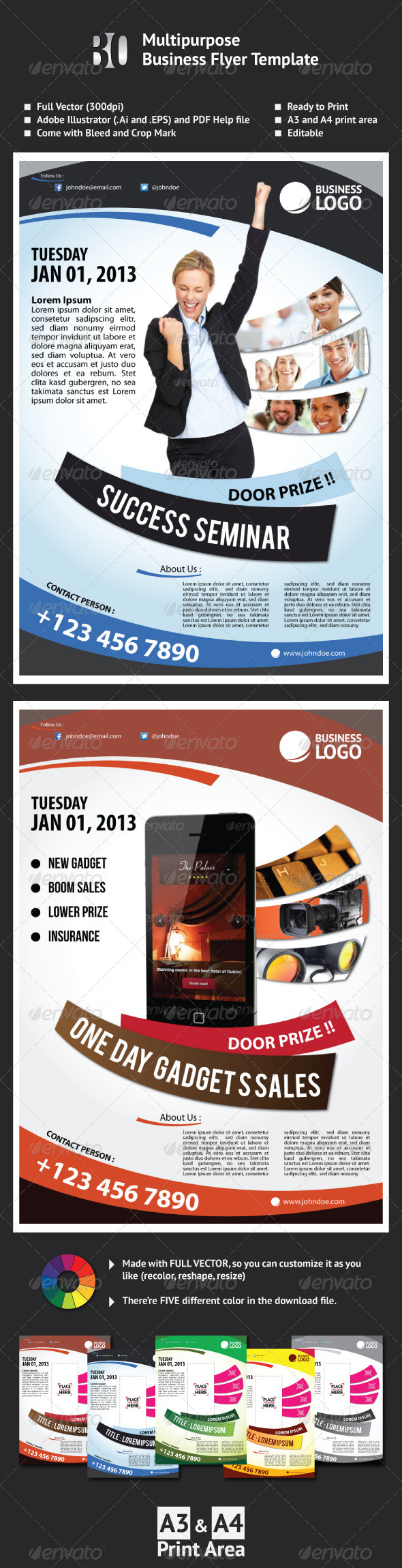 GraphicRiver Multipurpose Business Flyer Template 2762278